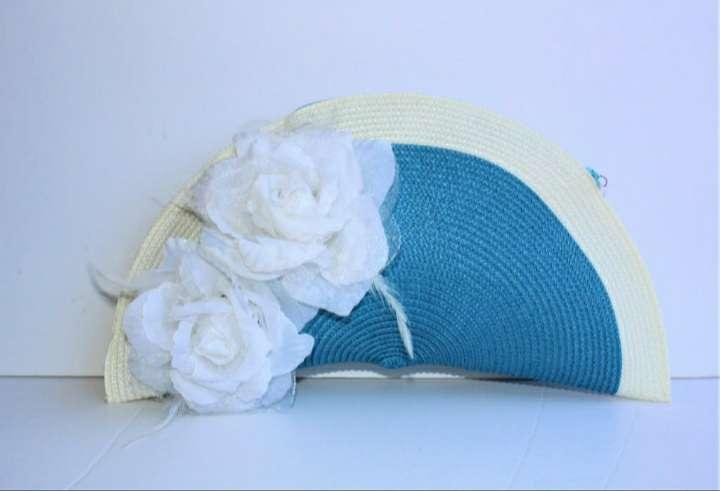 Imagen Bolso abanico en azul