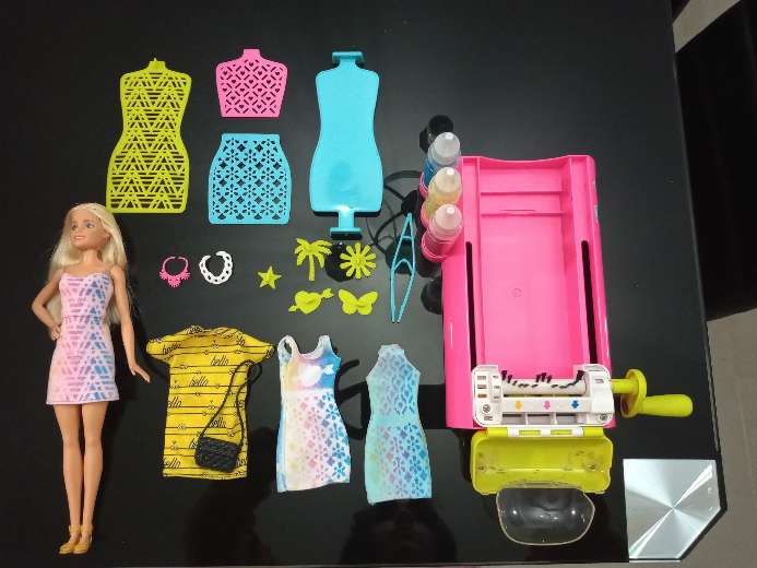 Imagen Barbie set color Magic Station