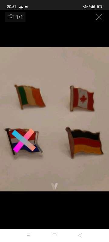 Imagen 3 pins banderas de paises
