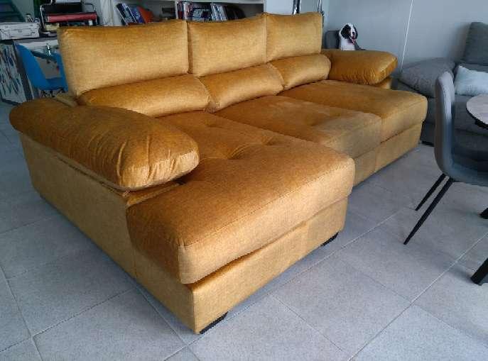 Imagen Sofá rinconera color amarillo