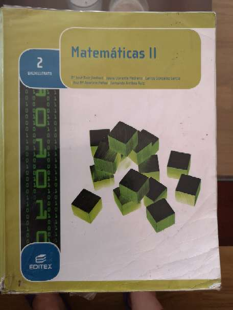 Imagen Matemáticas II 2° Bach Editex