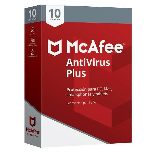 Imagen McAfee Antivirus PLUS 10 Dispositivos