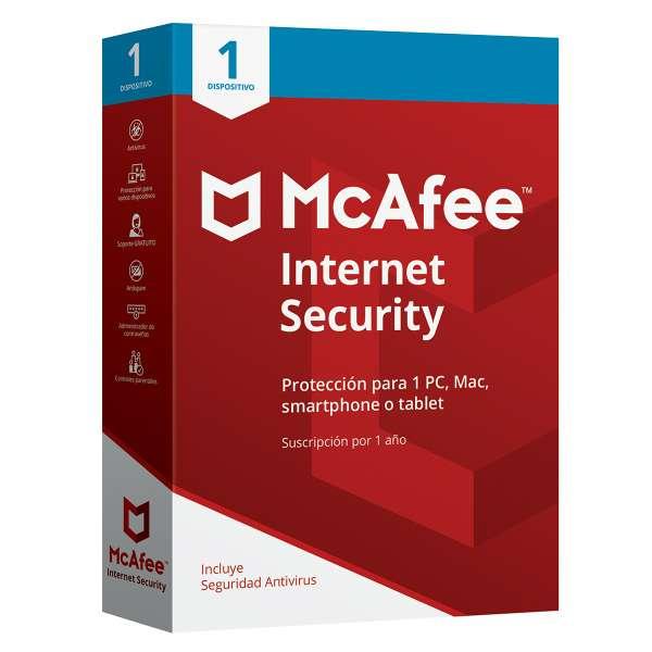 Imagen McAfee Internet Security 1 Usuario
