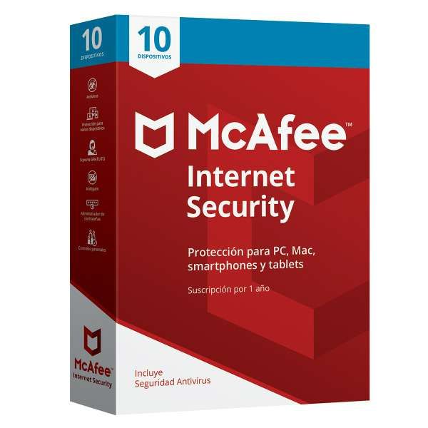 Imagen Antivirus McAfee Internet Security 10 Usuarios