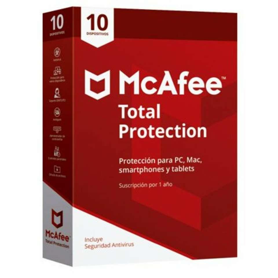 Imagen Antivirus McAfee Total Protection 10 Usuarios