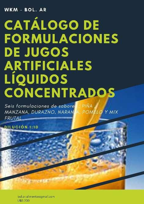 Imagen Catálogo de Formulaciones de Jugos Artificiales Líquidos Concentrados para uso Industrial