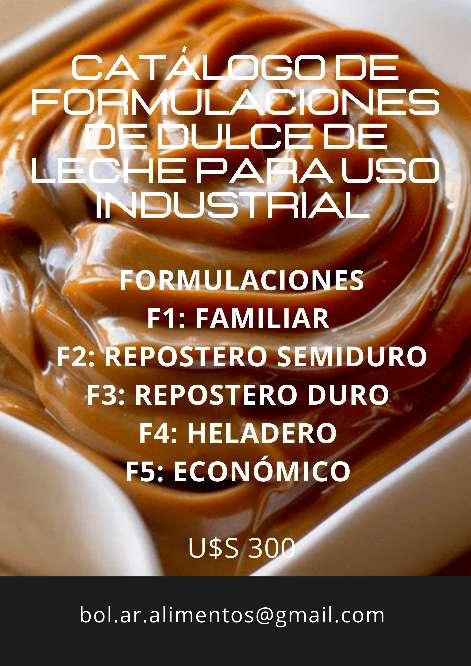 Imagen Catálogo de Formulaciones de Dulce de Leche para uso Industrial