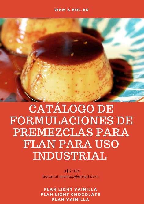 Imagen Catálogo de Formulaciones de Premezclas para Flan para uso Industrial