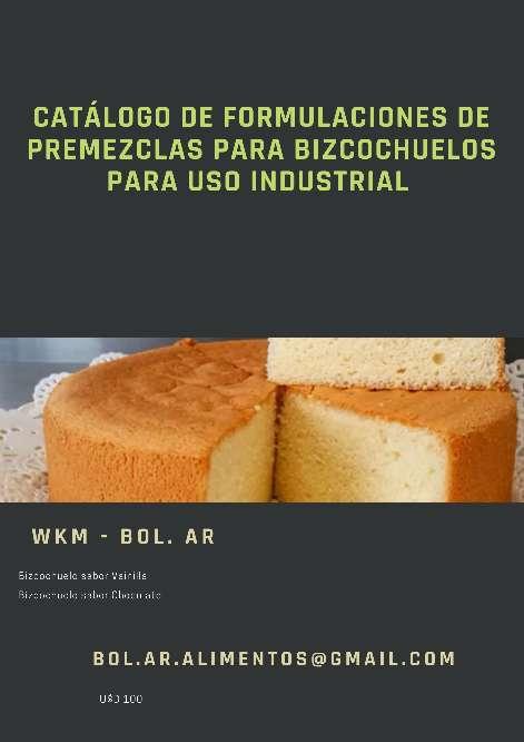 Imagen Catálogo de Formulaciones de Premezclas para Bizcochuelos para uso Industrial