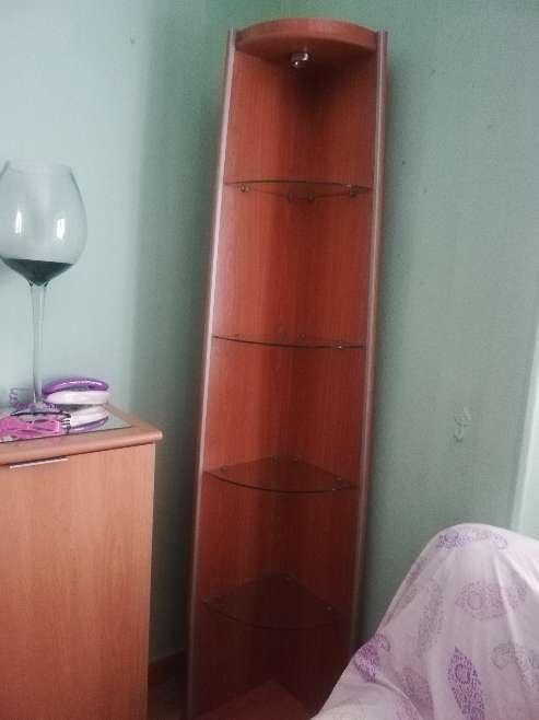 Imagen Mueble Esquinera Con Luz y Baldas Cristal