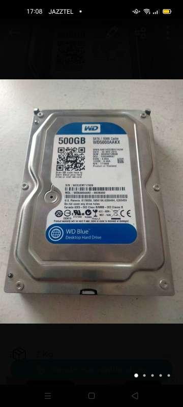 Imagen disco duro wd 500 gb sata