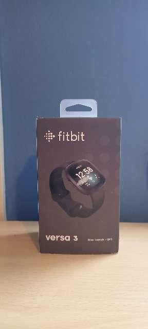 Imagen Smartwatch - Fitbit Versa 3, Negro, GPS, Frecuencia cardiaca, + 6 días batería.