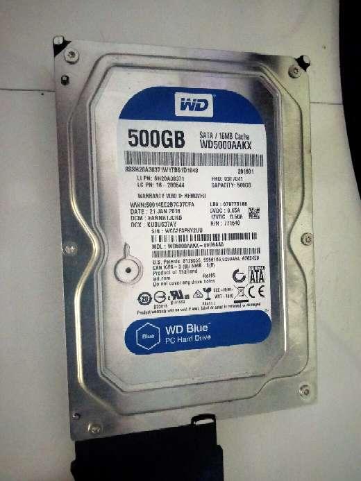 Imagen disco duro wd blue 500 gb sata