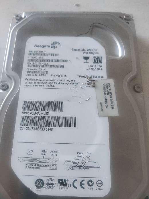 Imagen disco duro Seagate 250 gb sata