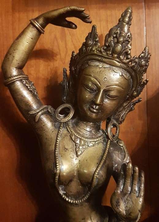 Imagen Diosa Tara de bronce.