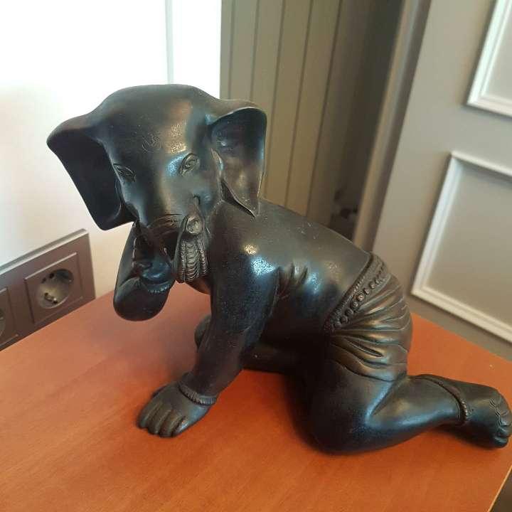 Imagen Dios Ganesha de bronce.
