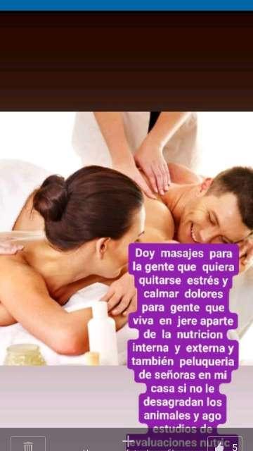 Imagen se  dan masajes  terapeuticos  relajantes  musculares
