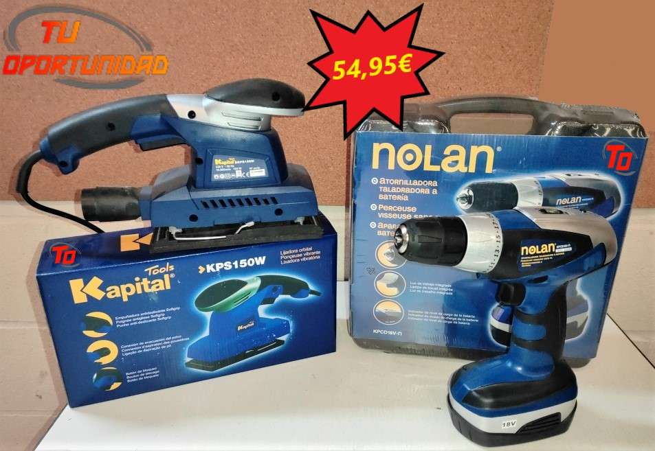 Imagen Taladro atornillador Nolan y lijadora Kapital Tools