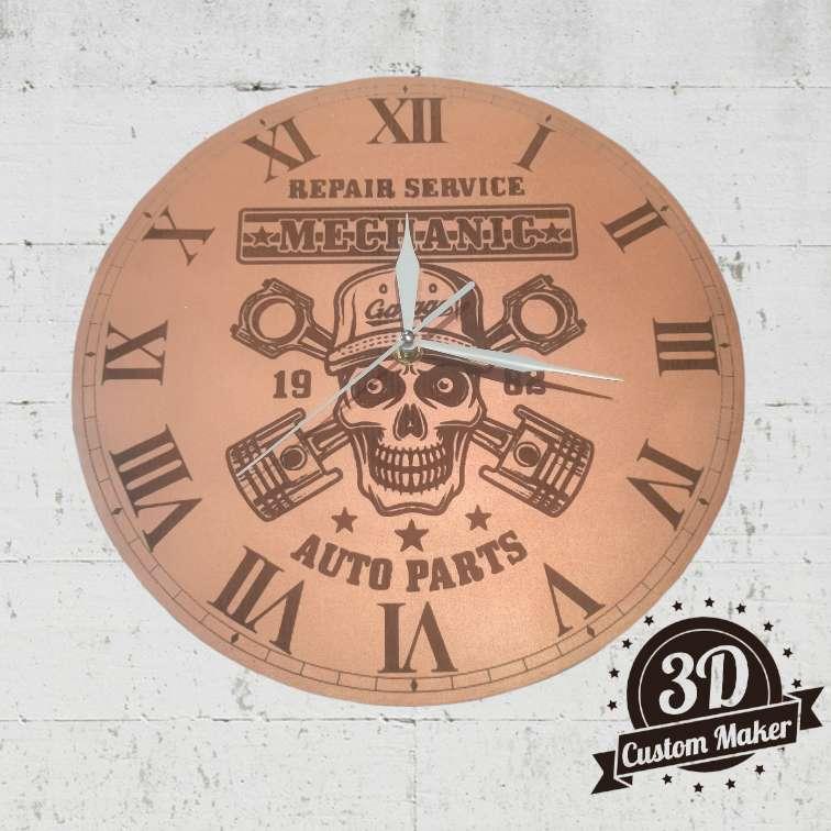 Imagen Reloj de Pared, Mechanic. Madera MDF