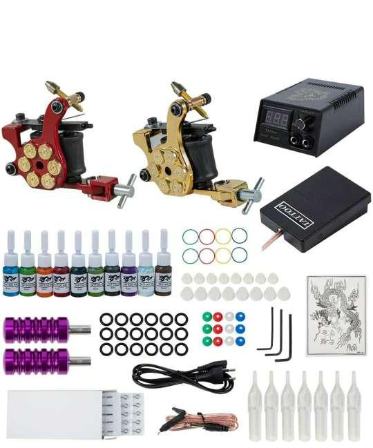 Imagen kit tatuaje 2 máquinas nuevo y completo