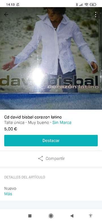 Imagen CD David bisbal
