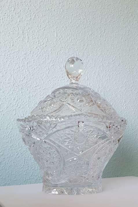 Imagen Bombonera de cristal D'arques tallada