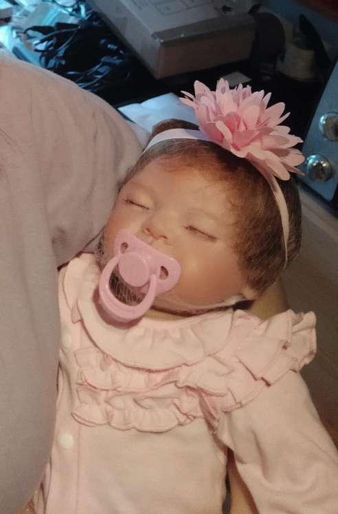 Imagen 55cm Muñeca Bebes Reborn Silicona Blanda