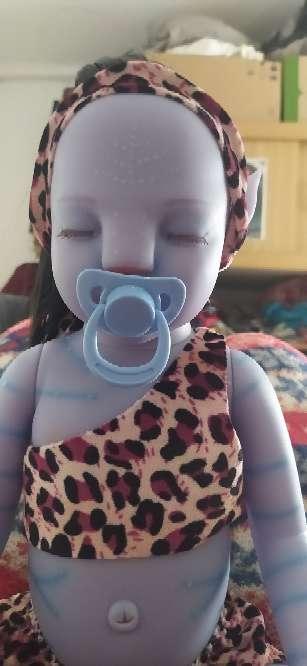 Imagen Muñeco bebe reborn avatar niño luminoso 50cm