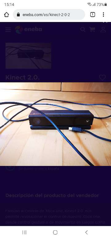 Imagen kinect xbox one