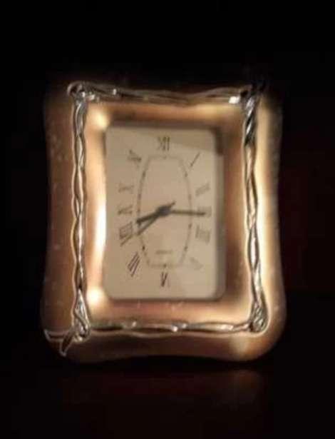 Imagen Reloj vintage marco plateado
