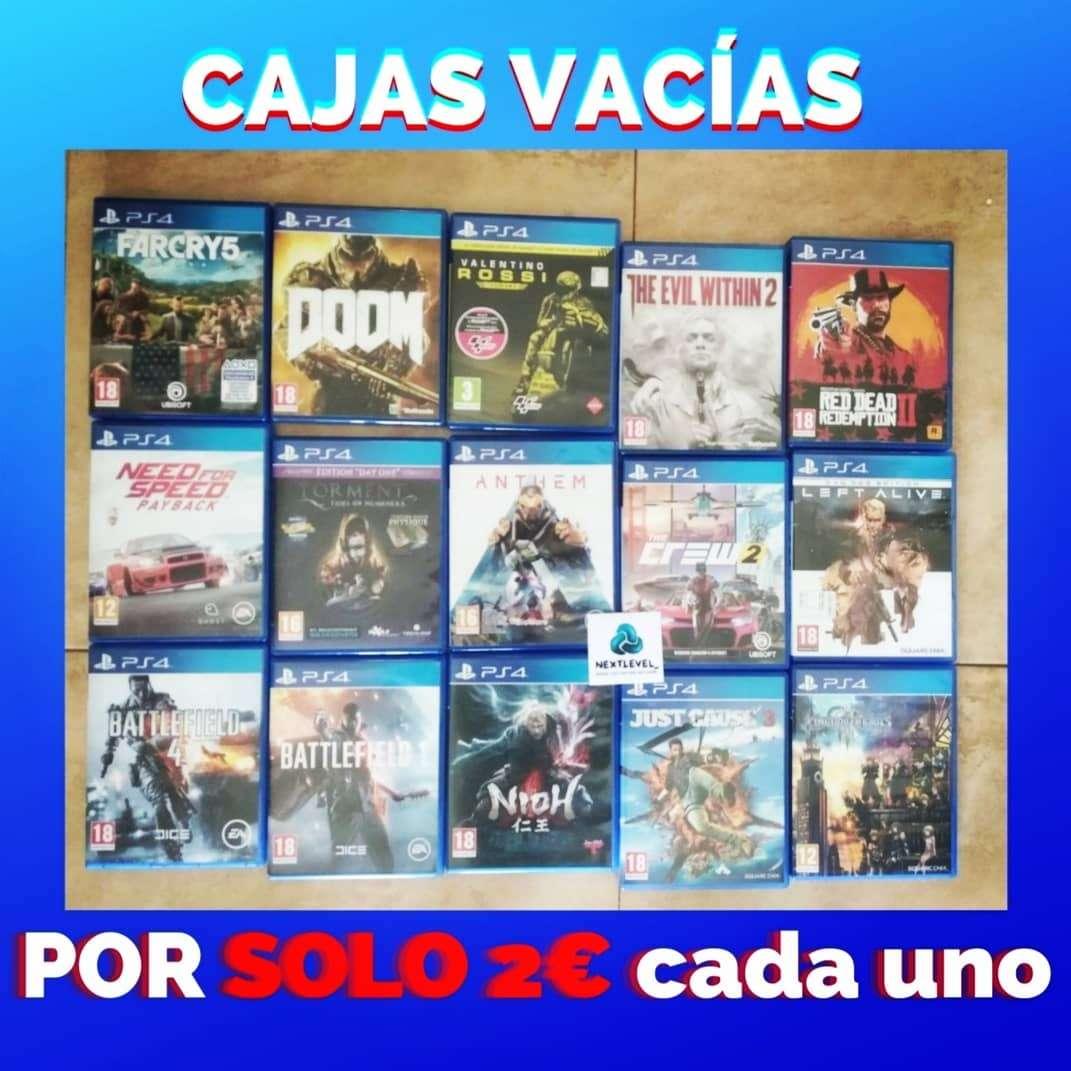 Imagen Cajas vacías PlayStation 4