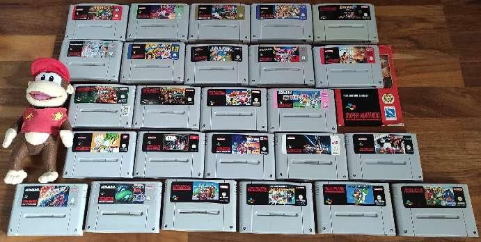 Imagen Lote compuesto por 25 Cartuchos Super Nintendo :